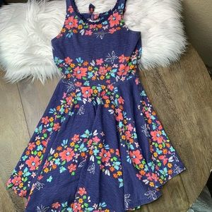 Floral Pattern Girls Skater Dress
